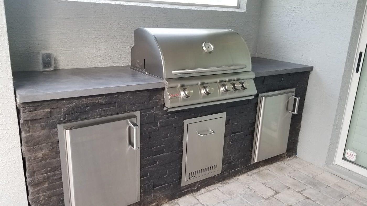 custom concrete kitchen
