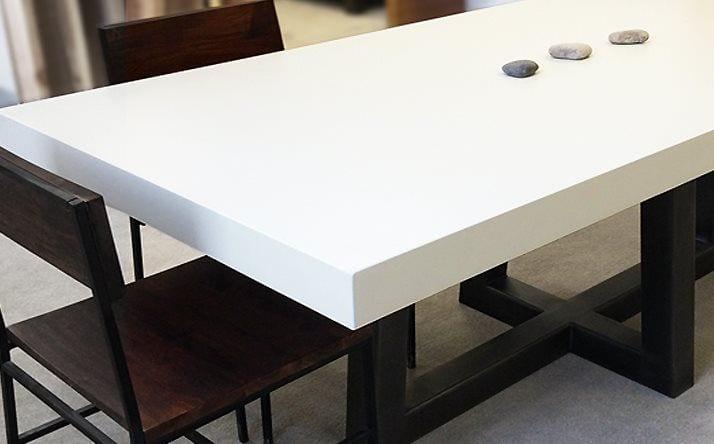 concrete kitchen table